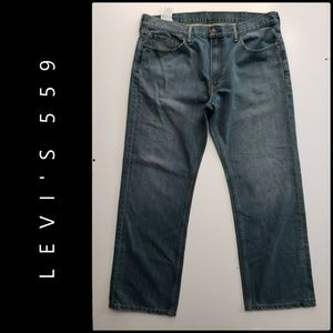 Levis 559 Men Relaxed Straight Fit Blue Jeans 38